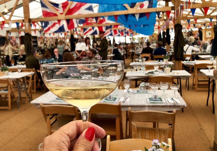 retro Champagne Glass