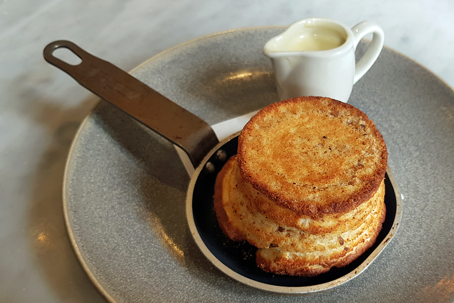 Cheese Souffle, one of the many highlights on the Brasserie Blanc Menu