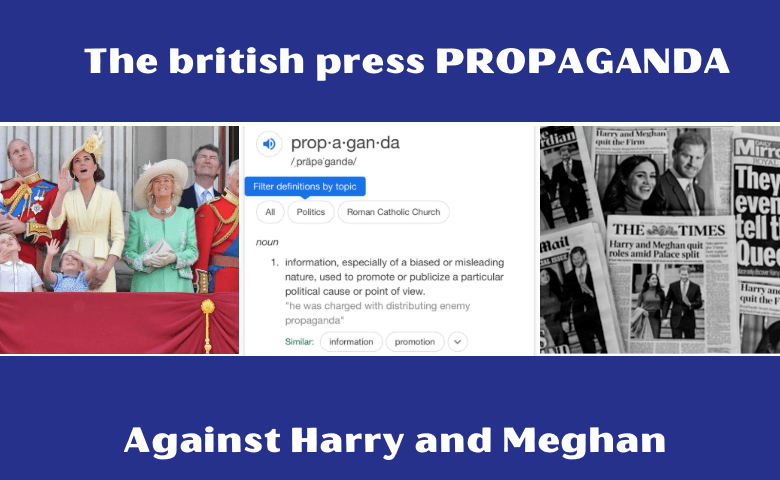 Propaganda against Harry and Meghan