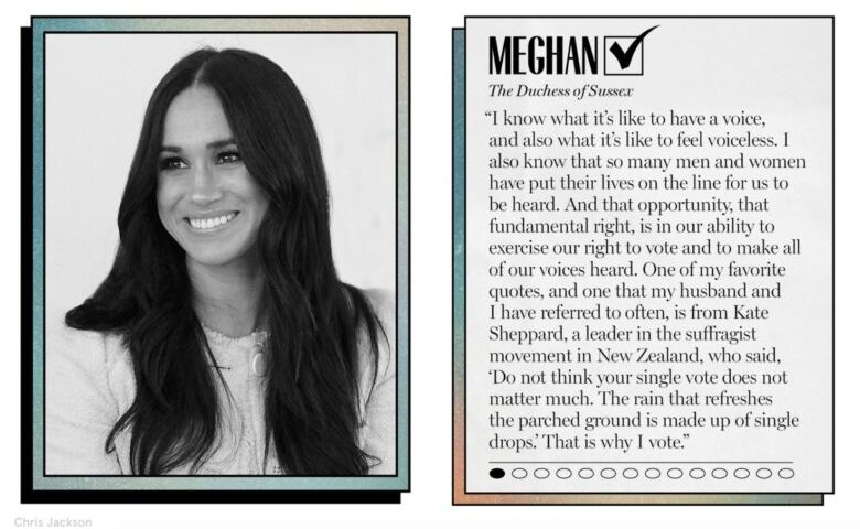 WHY MEGHAN MARKLE WILL VOTE IN 2020