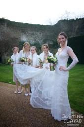 Beautiful brides at castle wedding