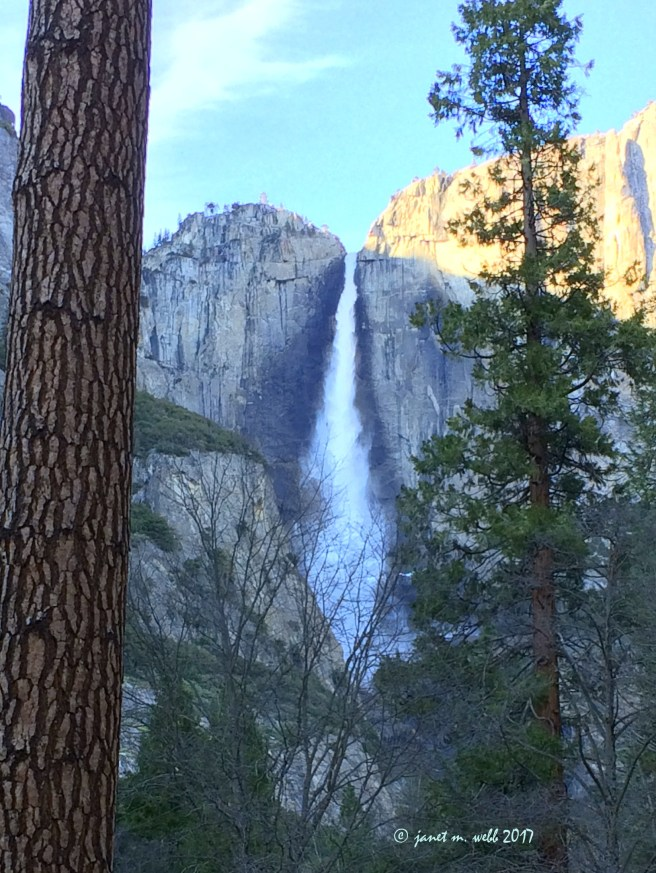 View of Yosemite Falls from our door
