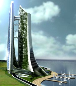 Project: Vertical Eco-Cybernetic City by Ar. Orlando De Urrutia, Spain