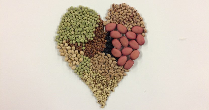 various seeds grouped together in the shape of a heart