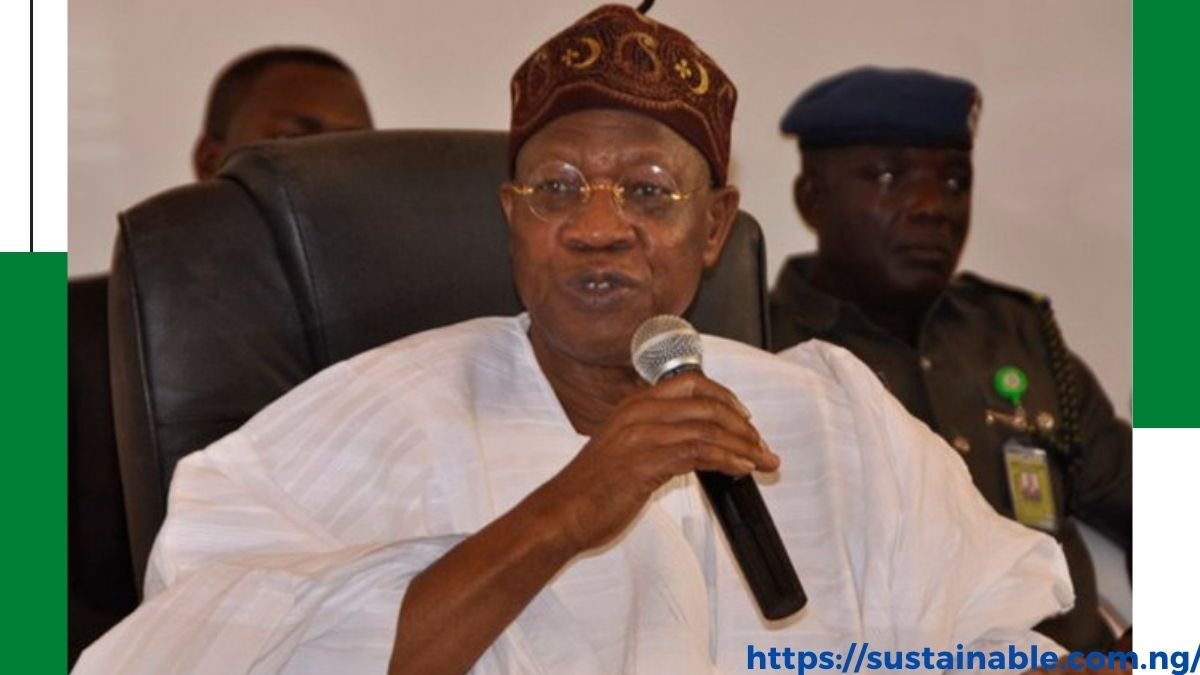 lai Mohammed addressing newsmen on hazard allowance