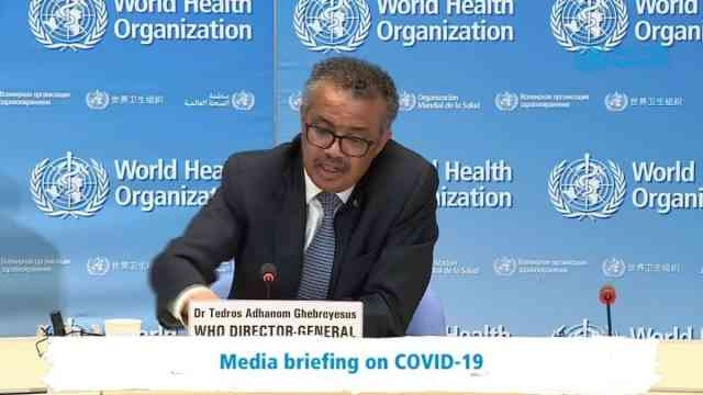 WHO DG on covid-19 recovery roadmap