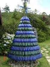 Arvore de Natal feitas com garrafa PET