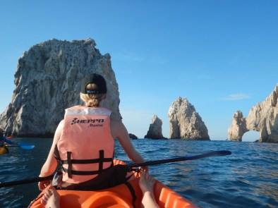 Kayaking to the Arco in Cabo San Lucas. Picture by Stephanie McGlashan