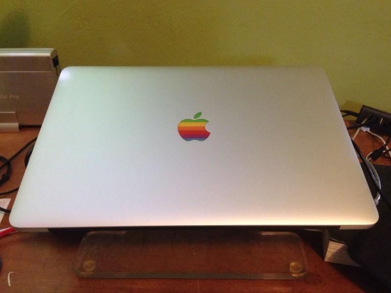 New MacBook Pro with Rainbow Logo