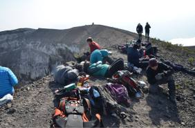 On top of the crater of Ol Doinyo Lengai
