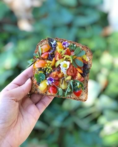 summer garden toast