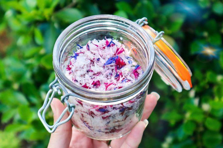 edible flower salt