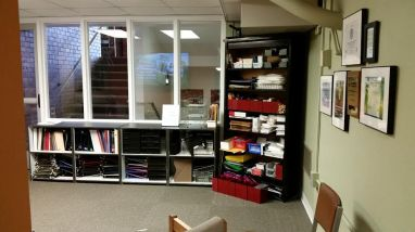 The Office Supply Share, located in Seymour Basement. (Image courtesy of The Office of Sustainability)