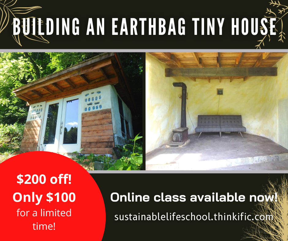 earthbag tiny house workshop