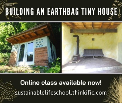 Building an Earthbag Tiny House