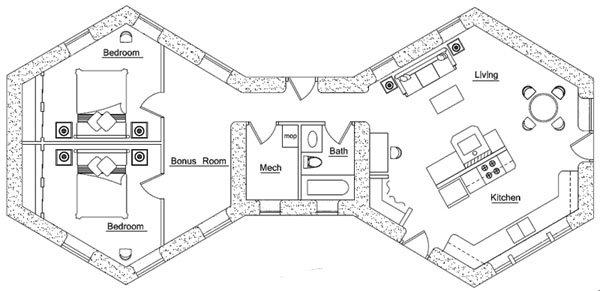 2 Pods Floor Plan