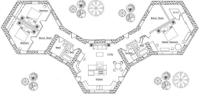 3 Pods Floor Plan