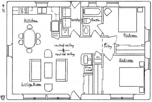Solar Ranch House Floor Plan