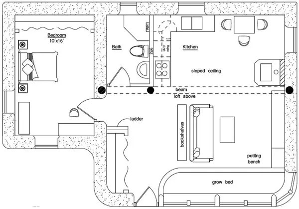 Solar Cabin Floor Plan