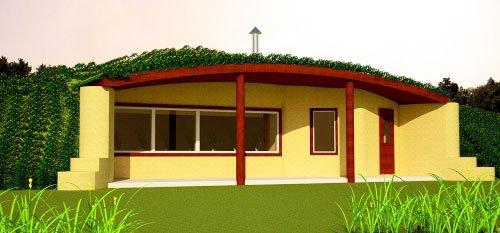 Spiral 2 Earthbag House