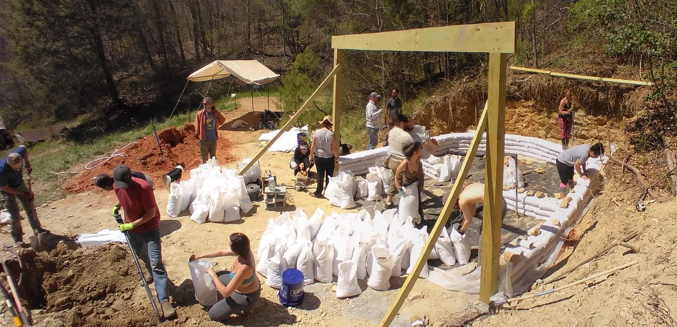 Earthbag Tiny House Workshop Day 2