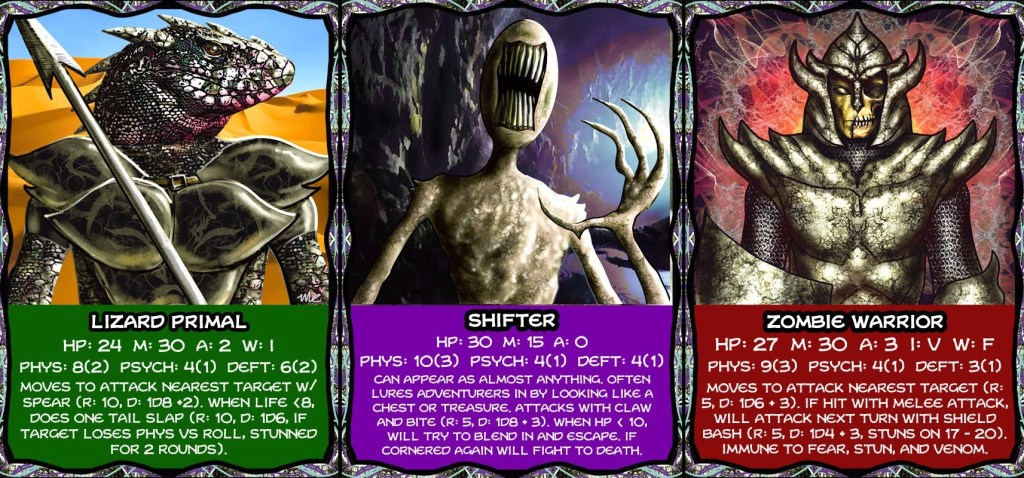 Multidimensional Dungeons Cards