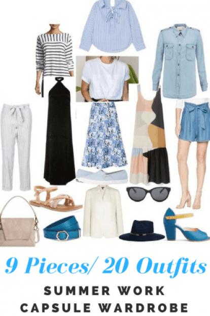 Summer work capsule wardrobe