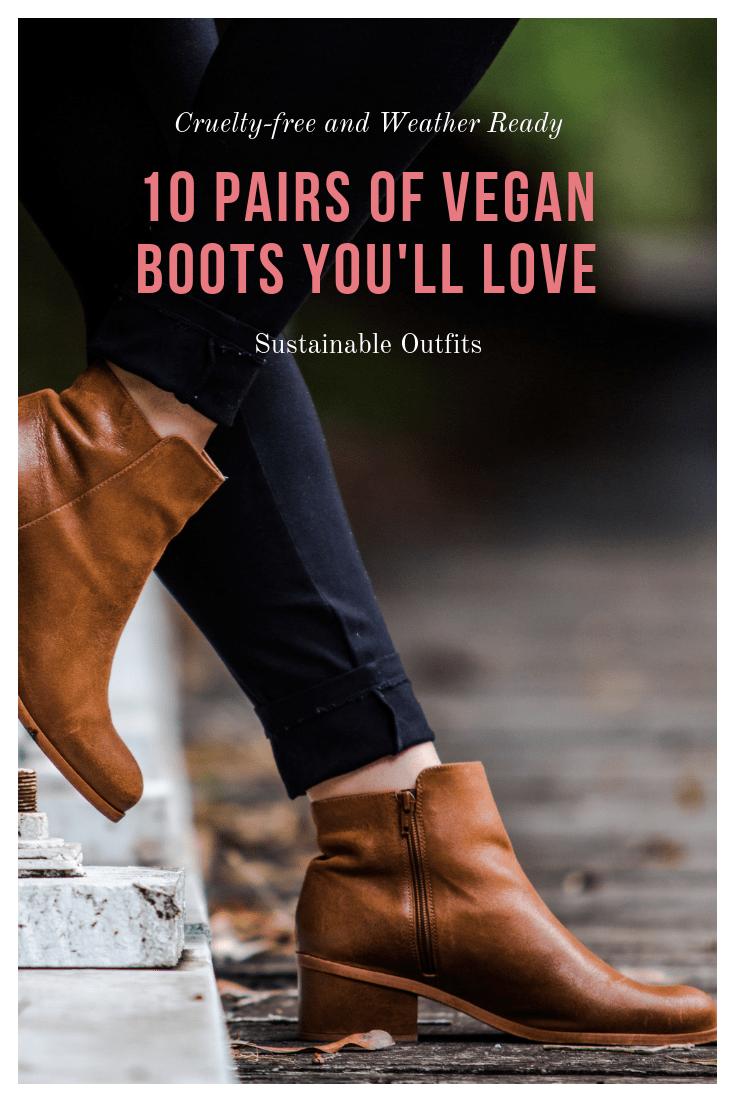 10 Pairs of Vegan Boots