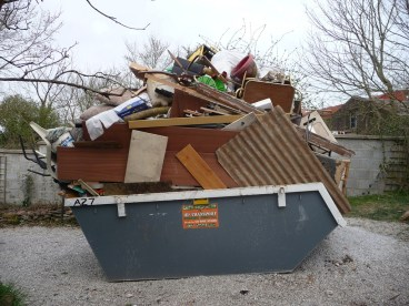 Image result for overflowing skip