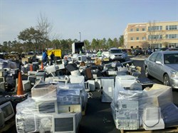 VZW Electronics Recycling Pile