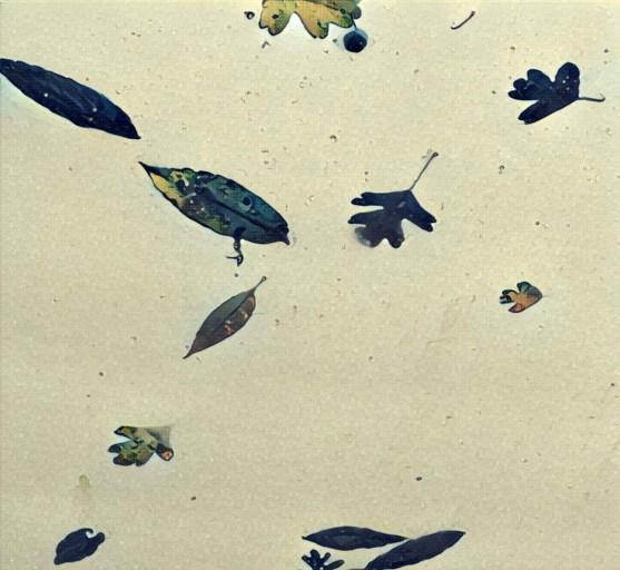 leaves on polytunnel