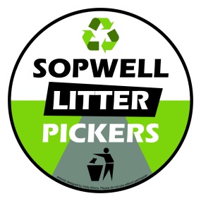 Sopwell litter pickers logo with credit
