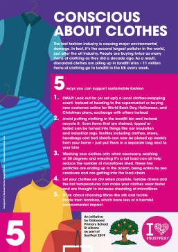 5. Conscious about clothing