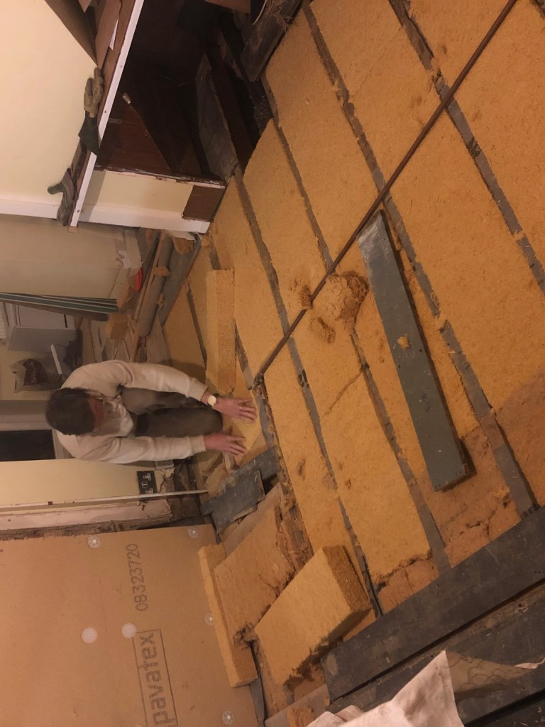 Insulating the floor of a Victorian end of terrace home.