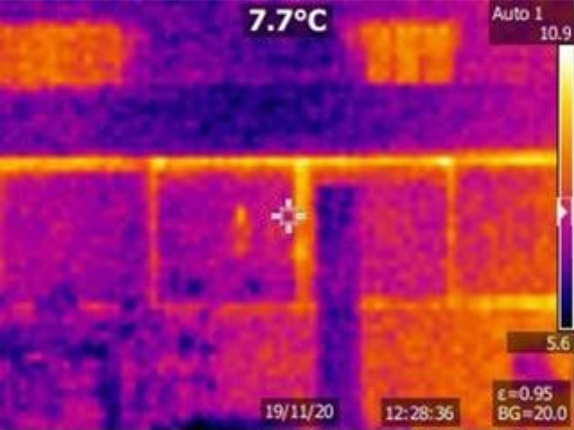 Grove House - Double glazing (thermal imaging camera)