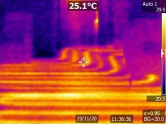 Thermal Imaging Camera - Grove House Underfloor Heating - After