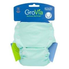 GroVita Organic AIO diaper, light blue