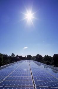 Solar Panels reflect the sunlight