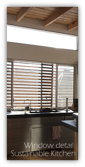 Kitchen Window detail with wooden blinds
