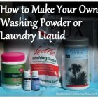 How to make your own laundry liquid or washing powder | SustainableSuburbia.net