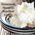 Homemade Mosquito Repellent Lotion | A bowl of Shea butter | SustainableSuburbia.net