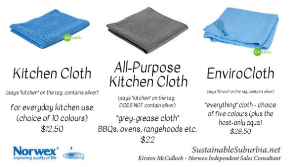 Norwex Kitchen Cloth, Norwex All-purpose kitchen cloth, norwex envirocloth | SustainableSuburbia.net