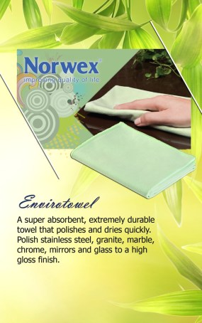 Envirotowel - a super absorbent, extremely durable towel that polishes and dries quickly.