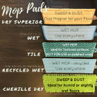 Norwex mop fibres - what to use where | SustainableSububurbia.net