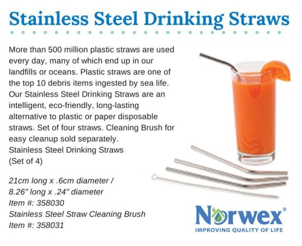 Norwex Stainless Steel Drinking Straws