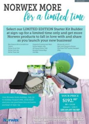 July18 Norwex Limited Edition Starter Kit Builder Pack New Zealand save 44 percent | Sustainable Suburbia