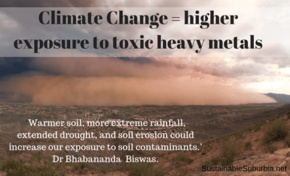 Climate change means higher exposure to heavy metals   photo: Pheonix Dust Storm by Alan Stark, Flickr   SustainableSuburbia.net