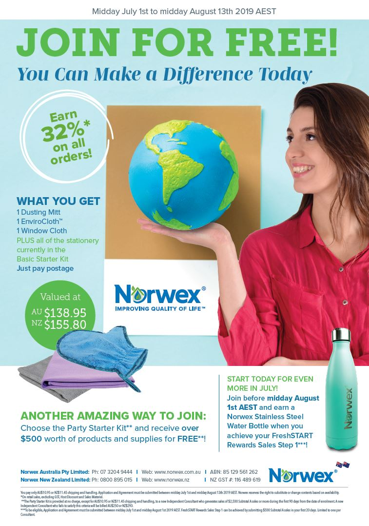 Join Norwex for FREE in Australia and New Zealand!