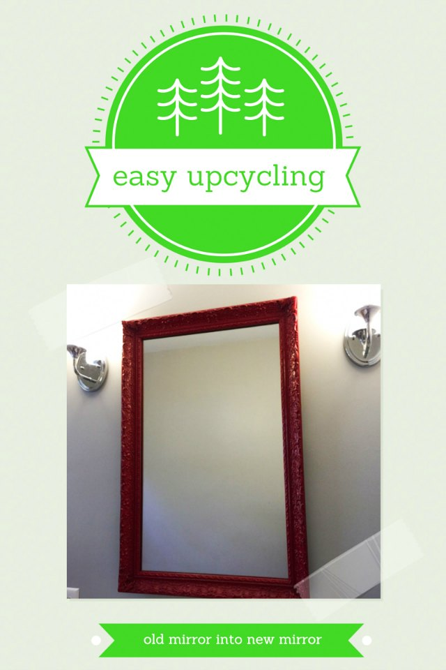 Easy Upcycling: How To Update A Mirror And Frame With A Can Of Spray Paint