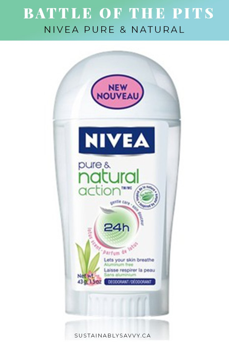 BATTLE OF THE PITS NIVEA PURE AND NATURAL DEODORANT